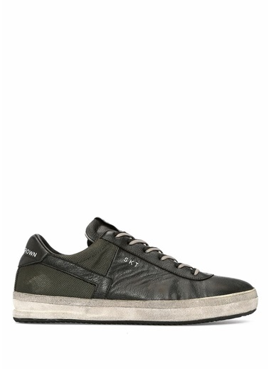 Leather Crown Sneakers Siyah